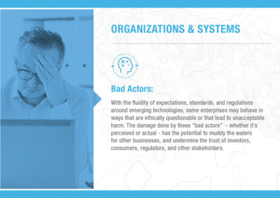 Organizations & Systems: Bad Actors