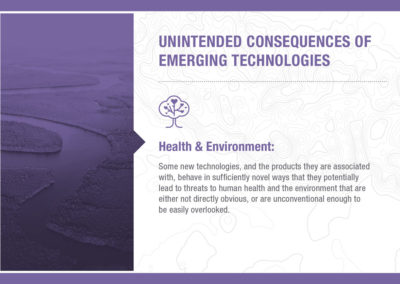 Unintended Consequences of Emerging Technology: Health & Environment