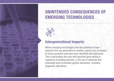 Unintended Consequences of Emerging Technology: Intergenerational Impacts