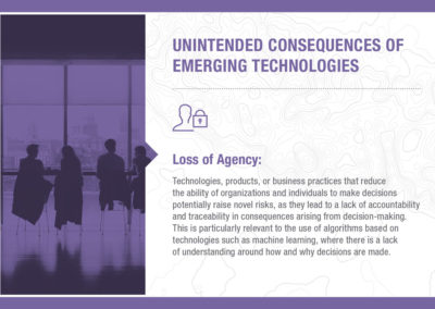Unintended Consequences of Emerging Technology: Loss of Agency