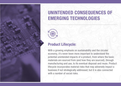 Unintended Consequences of Emerging Technology: Product Lifestyle