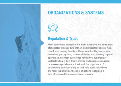 Organizations & Systems: Reputation & Trust
